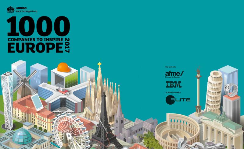 « 1000 companies to inspire Europe 2017 » : La Bourse de Londres  sélectionne Cetup