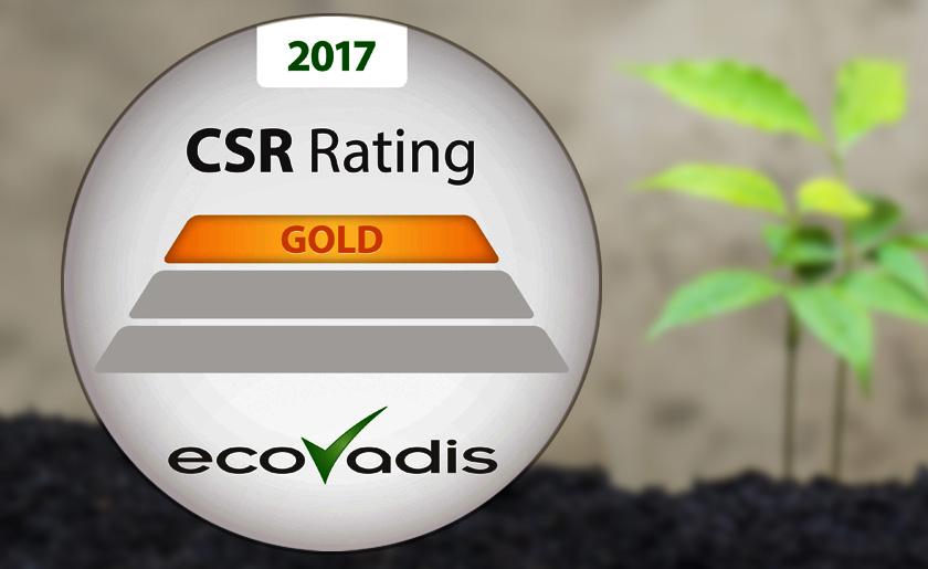 Cetup obtient la certification ECOVADIS Gold