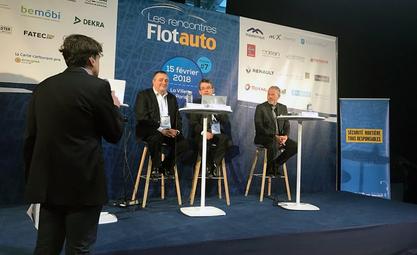 Jean Pierre Capossele takes part in the round tables at the Flotauto Fair
